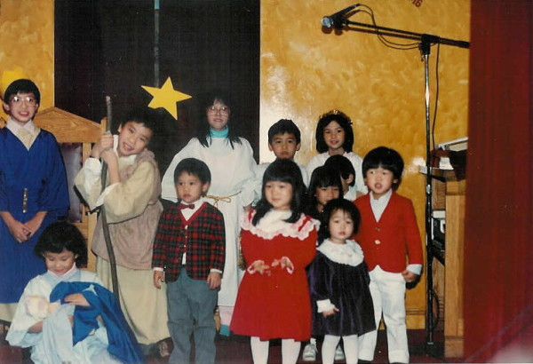 A children's Christmas pageant from the late 1980s