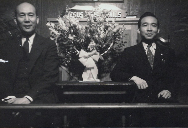 Rev. Young (L), GFC's founding pastor and Rev. Low (R), GFC's 2nd pastor