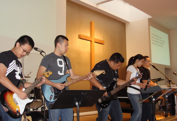GFC's Praise Band, playing at a Praise Night in Brooklyn in 2009